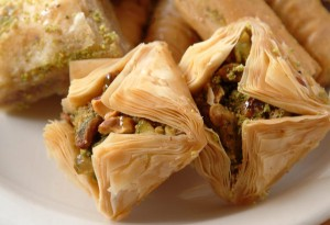 Baklava: one of the many food items served at Glendi.